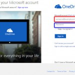 Sign In to a OneDrive Account