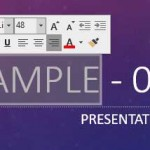 Mini Toolbar in PowerPoint 2016 for Windows