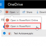 Opening PowerPoint Presentation from within PowerPoint Online on OneDrive