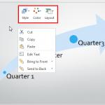 Mini Toolbar in PowerPoint Online