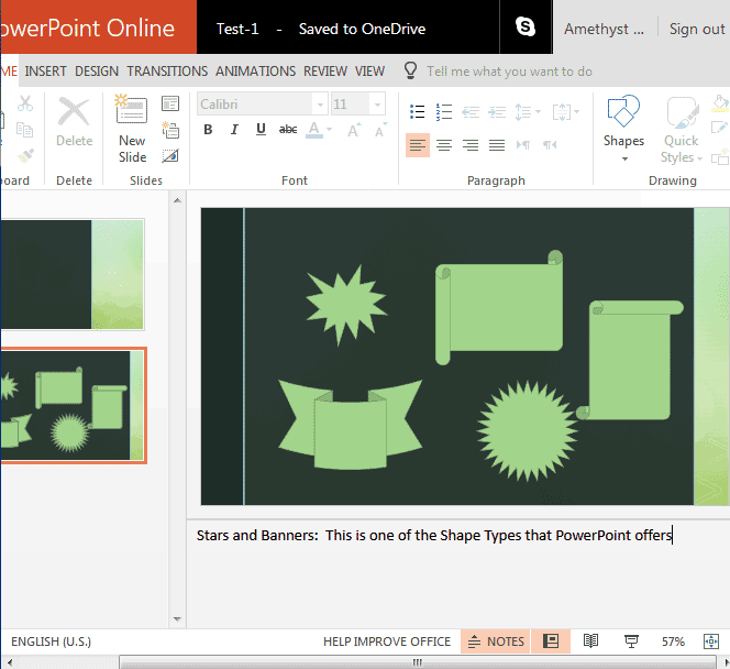 Notes Pane in PowerPoint Online