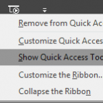 Quick Access Toolbar in PowerPoint 2016 for Windows