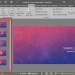 Slides Pane in PowerPoint 2016 for Windows