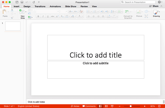Changing Interface Color in PowerPoint 2016 for Mac
