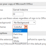 Changing Interface Color in PowerPoint 2016 for Windows