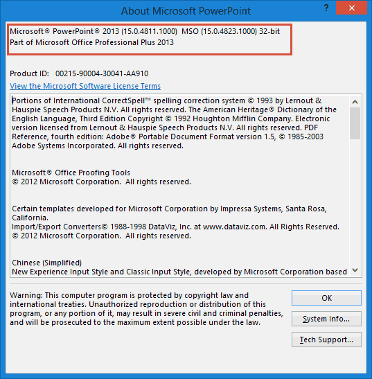 PowerPoint 2013 for Windows