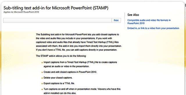 STAMP Accessibility Add-in for PowerPoint