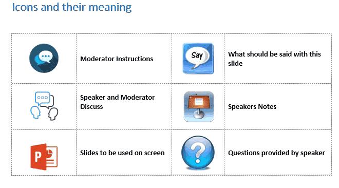 Moderator Script Icons