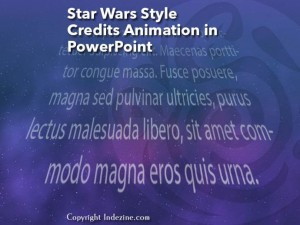 Star Wars Style Credits Animation in PowerPoint