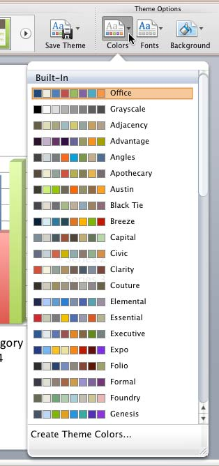 Applying Theme Colors and Theme Fonts in PowerPoint 2011 for Mac