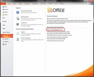 Identify 32-Bit or 64-Bit in PowerPoint and Office 2010 for Windows