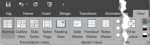 Views in PowerPoint 2016 for Windows