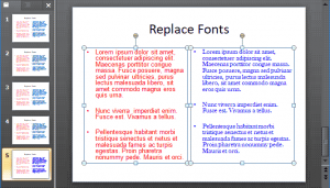 Replace Fonts in PowerPoint 2010 for Windows
