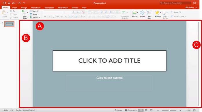 Slide Area in PowerPoint 2016 for Mac