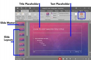 Slide Master View in PowerPoint 2016 for Windows