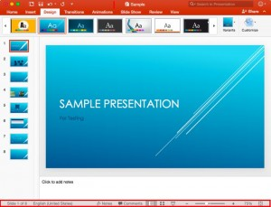 Status Bar in PowerPoint 2016 for Mac