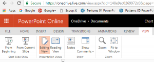 Views in PowerPoint Online