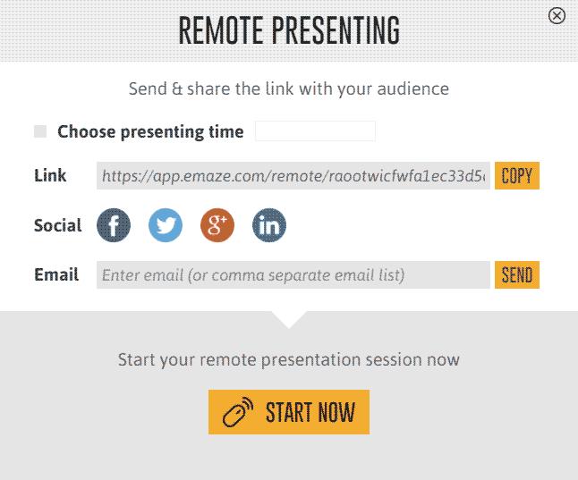 Emaze Remote Presenting