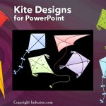 Kite Silhouette Graphics for PowerPoint