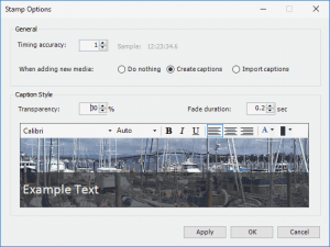 Align, Hide, Show, or Remove Captions using the STAMP Add-in