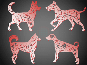 PowerPoint Shapes: Dog Designs