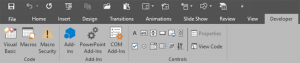 Enable Developer Tab of the Ribbon in PowerPoint 2016 for Windows