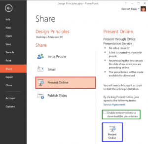 Present Online in PowerPoint 2013 for Windows