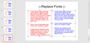 Replace Fonts in PowerPoint 2016 for Windows