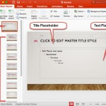 Slide Master View in PowerPoint 2016 for Mac