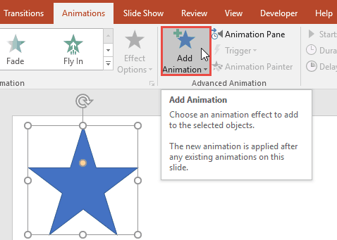 Adding Animation in PowerPoint 2016 for Windows
