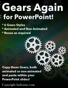 Gear Graphics for PowerPoint - Series 2 of 5