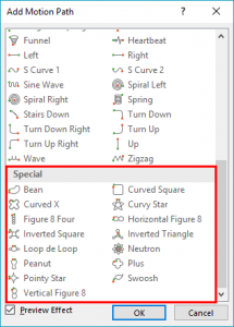 Motion Path Animations in PowerPoint 2016 for Windows