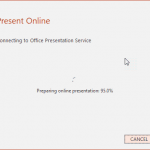 Present Online in PowerPoint 2016 for Windows