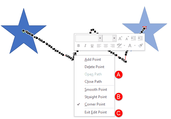 Edit Points in Motion Paths of Animations in PowerPoint 2016