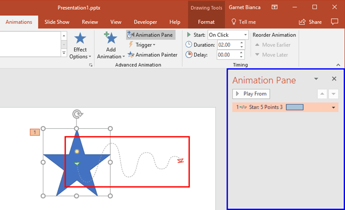 Lock and Unlock Paths for Motion Path Animations in PowerPoint 2016 for Windows