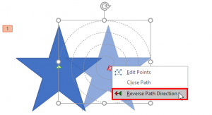 Reversing Paths of Motion Path Animations in PowerPoint 2016 for Windows