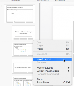 Add New Slide Layouts in PowerPoint 2016 for Mac