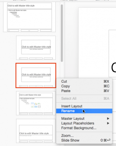 Duplicate, Rename, and Edit Slide Layouts in PowerPoint 2016 for Mac