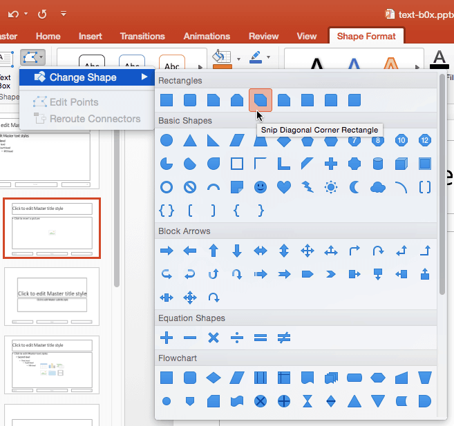 Formatting Picture Placeholders in PowerPoint 2016 for Mac