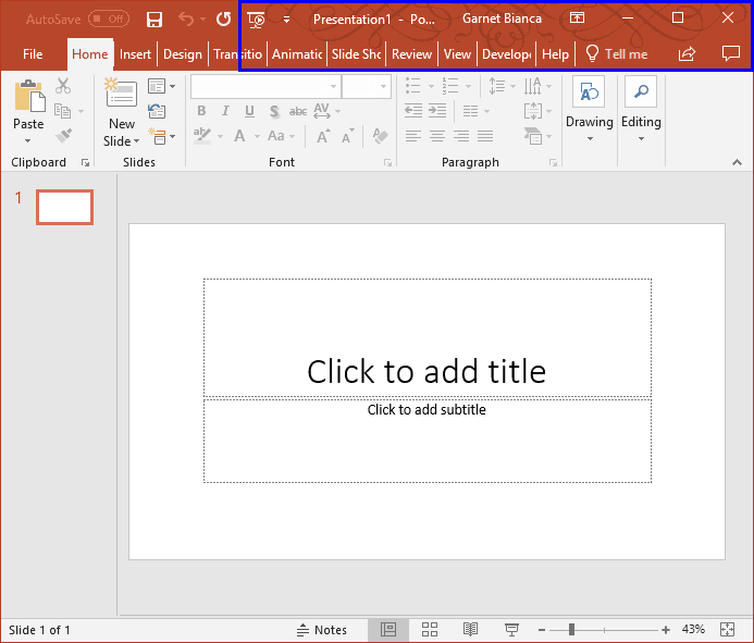 Office Background in PowerPoint 2016 for Windows