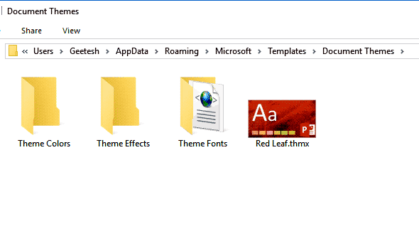 Where Are Custom Office Themes and Templates Saved?