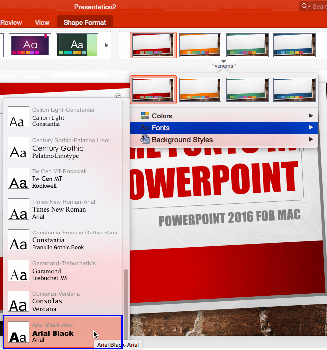 theme fonts in powerpoint 2016 for mac powerpoint and presenting stuff
