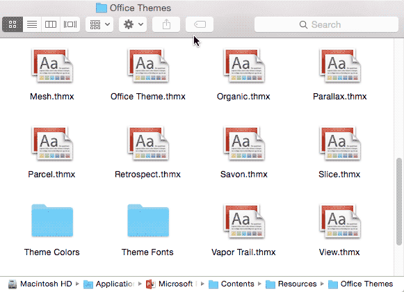 Where Are the Office Themes and Templates Located?