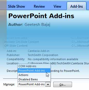 PowerPoint Add-ins