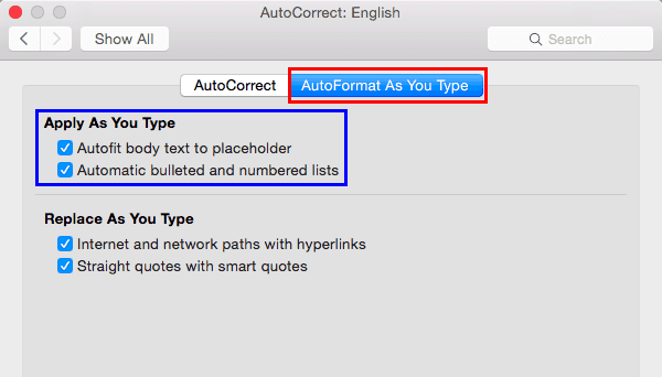 Text Box Autofit Options in PowerPoint 2016 for Mac