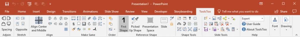 ToolsToo 7.2 Ribbon with UI mode set to Expert