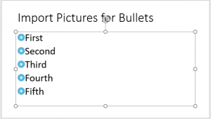 Import Pictures for Bullets in PowerPoint 2016 for Windows