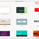 Presentation Gallery in PowerPoint 2016 for Mac