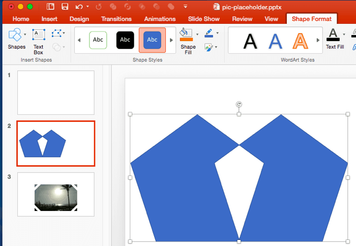 Shape Combine Command in PowerPoint 2016 for Mac
