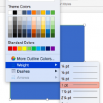 Formatting Outlines for Shapes (Weight/Thickness) in PowerPoint 2016 for Mac